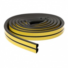 Self-adhesive rubber seal