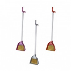 Broom with scoop plastic