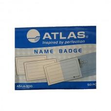 Horizontal badge with pin Atlas