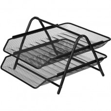 Tray for papers horizontal metal two-story
