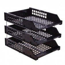 Tray for papers horizontal plastic three-story