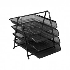 Tray for papers horizontal metal four-story