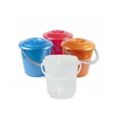 Bucket plastic with lid food 5 l.