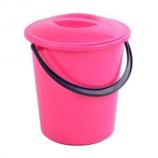 Bucket plastic with lid food 9 l.