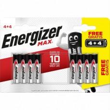 Battery Energizer AA, 1.5v 4+4 pcs