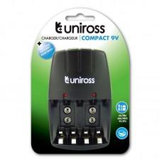 Uniross Compact charger, AA/AAA, 9V