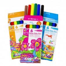 Felt-tip pen Yalong 6 colors