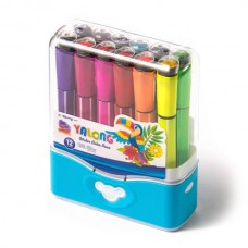 Felt-tip pen Yalong 12 colors with stamp