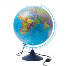 Political globe 32 cm with backlight