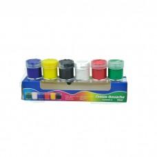 Gouache Yalong 6 colors, 15ml