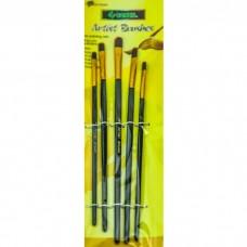 Paint brush Conzn 5 pcs. acrylic