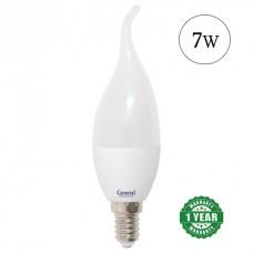 Lamp LED candle 7W E14 General