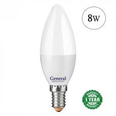Lamp LED candle 8W E14 General