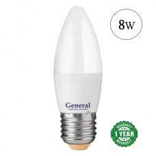Lamp LED candle 8W E27 General