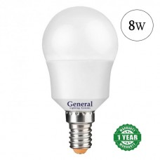 Lamp LED bulb 8W E14 General