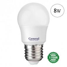 Lamp LED bulb 8W E27 General