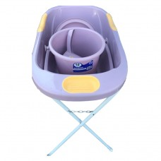 Baby bath 80x48cm 4 items with stand
