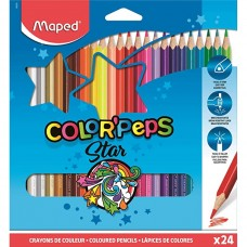 Colored pencils Maped, 24 colors