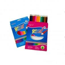Colored pencils Yalong 041, 18 colors