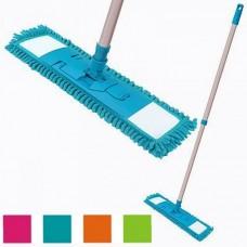 Mop with microfiber cloth metal handle