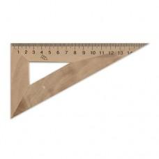 Wood triangle ruler 14cm