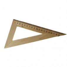 Wood triangle ruler 20cm
