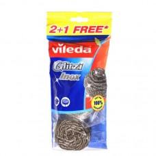 Dishwashing metal sponge Vileda x2+1