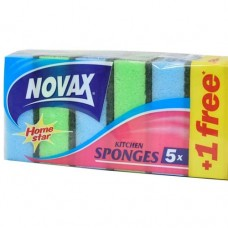 Dishwashing sponge Novax x5+1