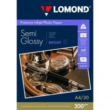 Photo paper Lomond A4, 200gr., semi glossy, 20 sheets
