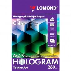 Photo paper Lomond A4, 260gr., holographic, 10 sheets