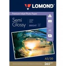 Photo paper Lomond A3, 265gr., semi glossy, 20 sheets