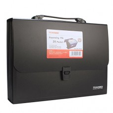 Briefcase folder, A4, 26 pockets