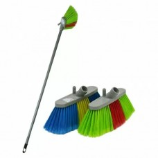 Brush with soft bristle length 24cm handle 1.2m