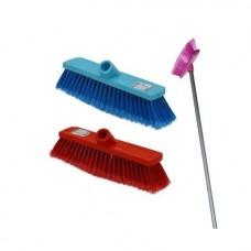 Brush with soft bristle length 26cm handle 1.2m
