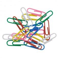 Metal clips colored 33mm, 100pcs